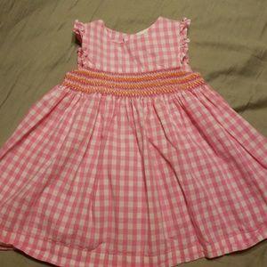 Carter's infant girls pink plaid dress